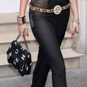 Vintage Chanel Nameplate Flap Bag